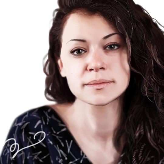 Drawing Tatiana Maslany by Sethyel