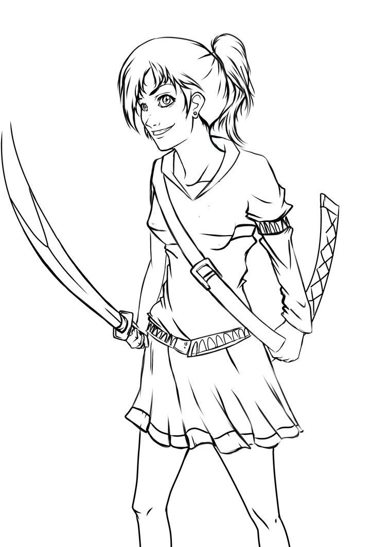 Sword-school girl sketch by AviArts on DeviantArt