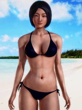 3D creation of Megumi2(bikini)