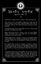 Deathnote Rules - page 1