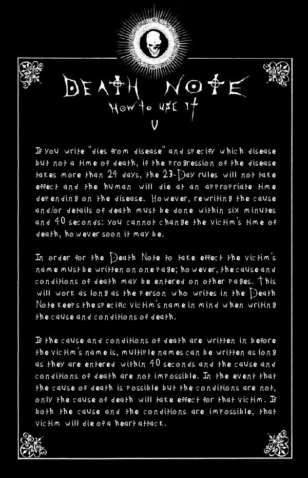 Deathnote Rules - page 5 by deathNote-club on DeviantArt