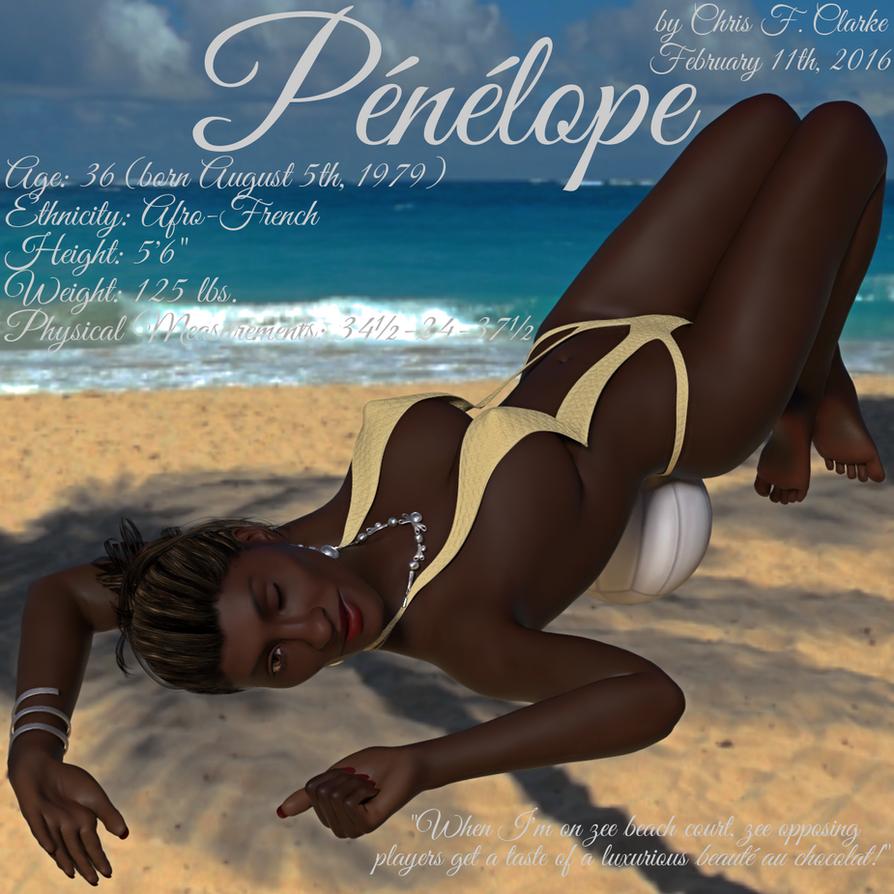 Penelope beach volleyball profile by ChrisFClarke