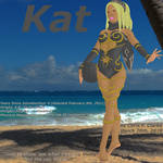 Kat beach volleyball profile (PS4 exclusive) by ChrisFClarke