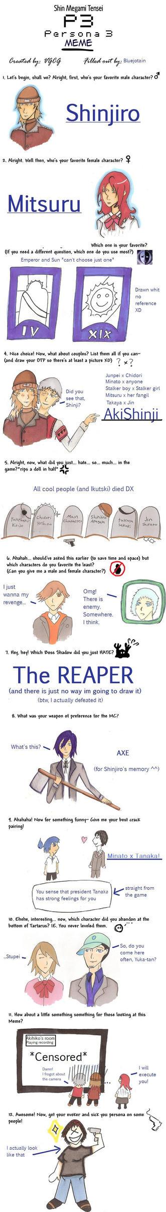 Persona 3 meme by Bluejotain