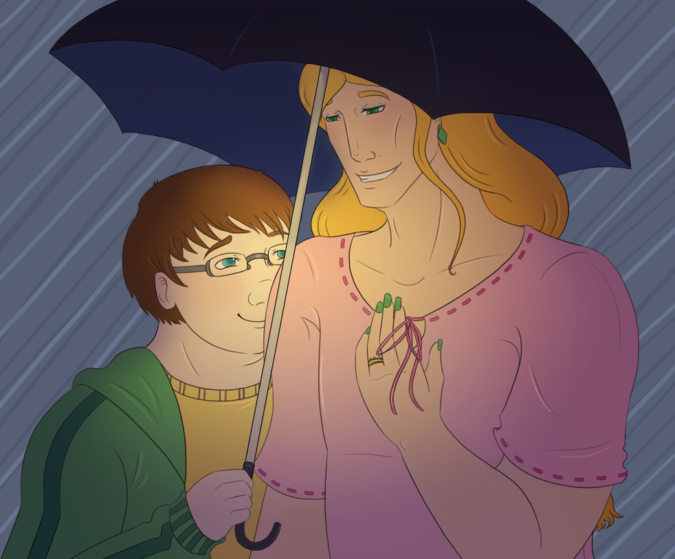 In the Rain by Bluejotain