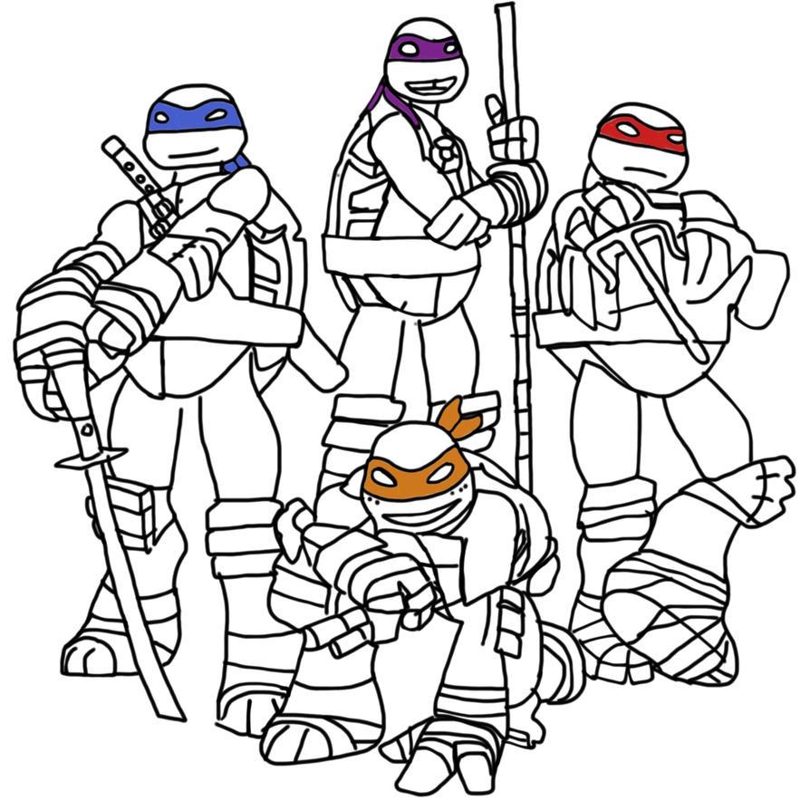 Line Art Ninja Turtles : Tmnt line art by maiandthetmnt on deviantart