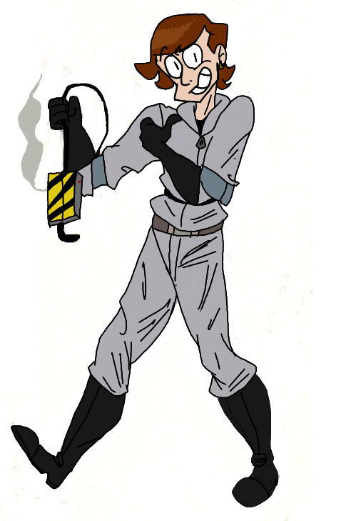 Ghostbusters OC test drawing by HystericalShibe