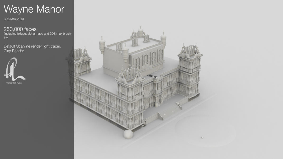 Wayne Manor 3D Model by ThomasBrettRussell