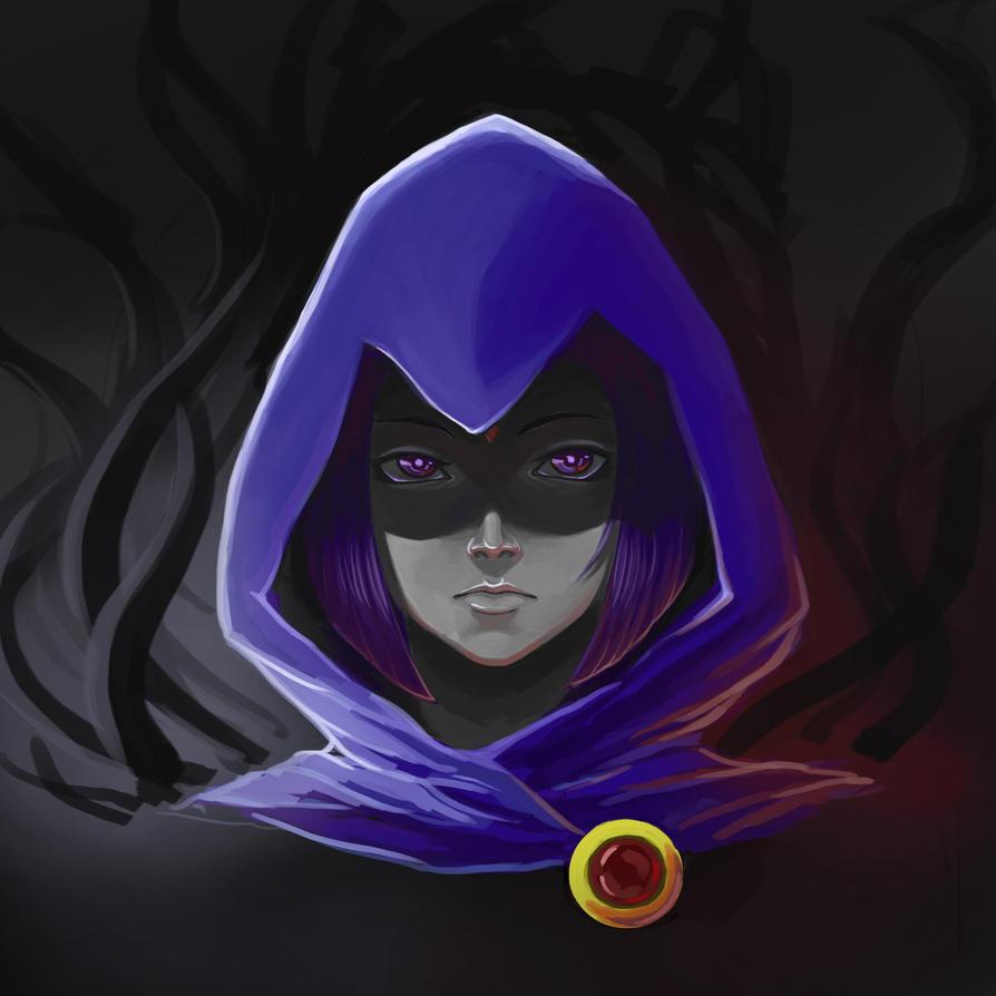 Raven teen titans no hood