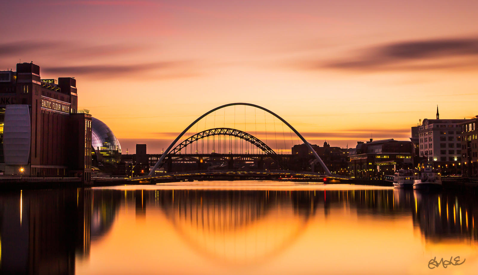 Tyne Bridge Sunset by rephocus