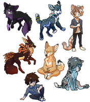 Chibi Commissions by Uncomfort