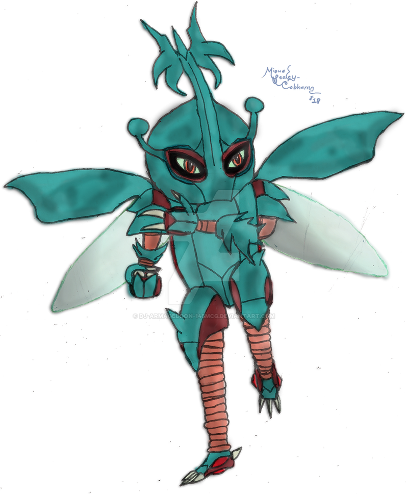 Pokemon Fusion (Hitmonlee + Heracross) (Shiny) by Dj-ArMaGeDdOn-145McG
