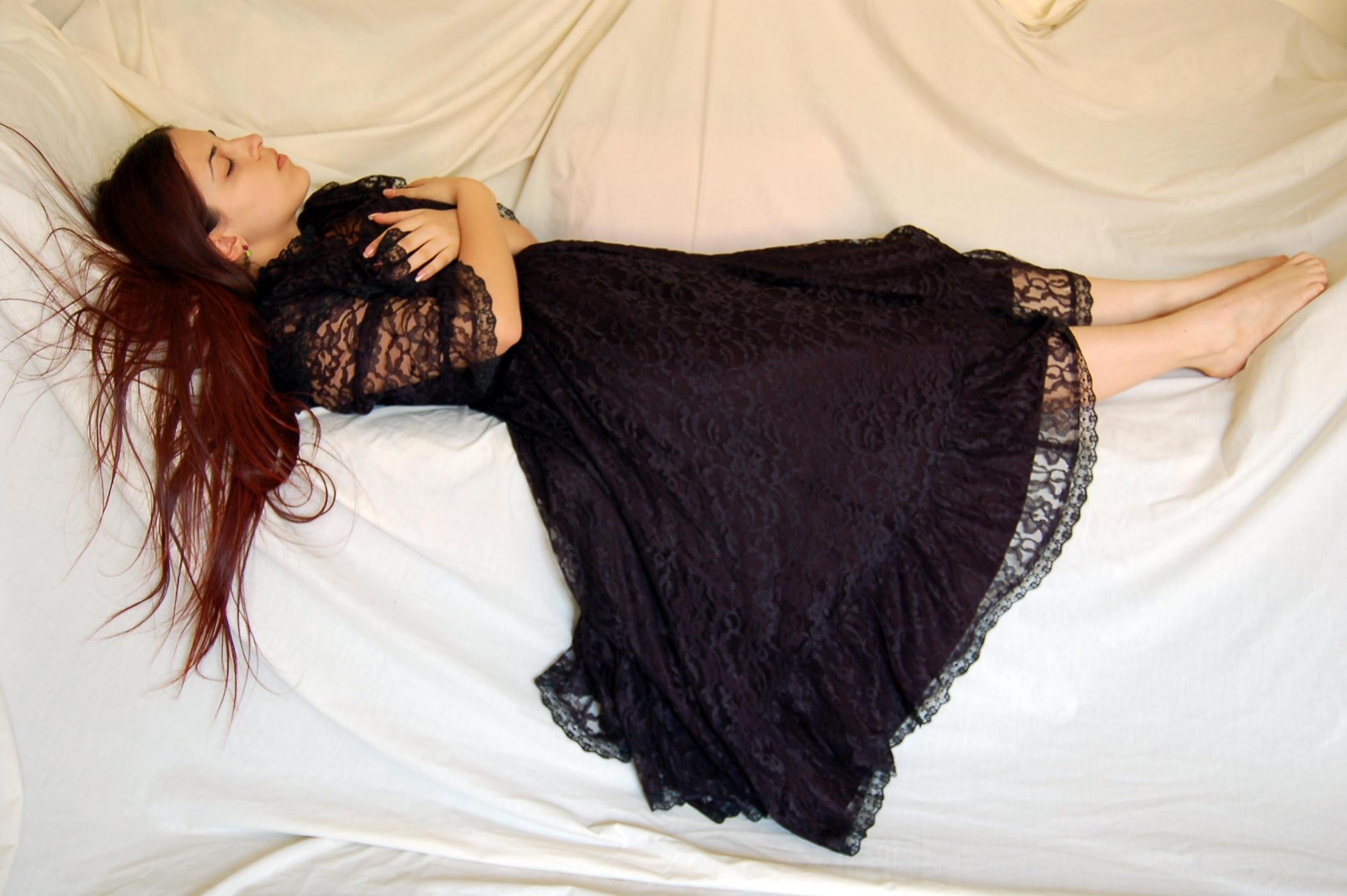 Black Lace dress 12 by InTenebris-Stock