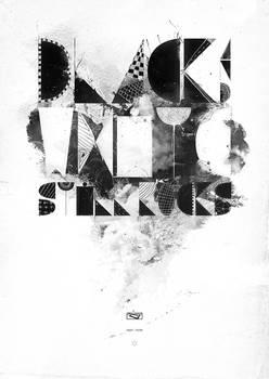 Black and white still rocks