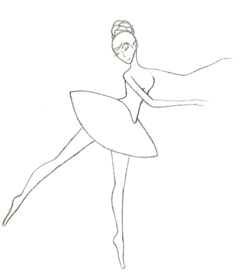 ballet shoes drawing easy - photo #40