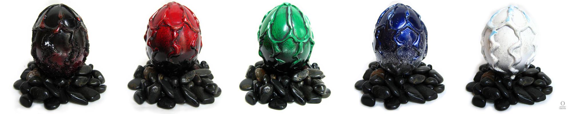 dragon eggs by digifox