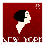 art - deco stamp