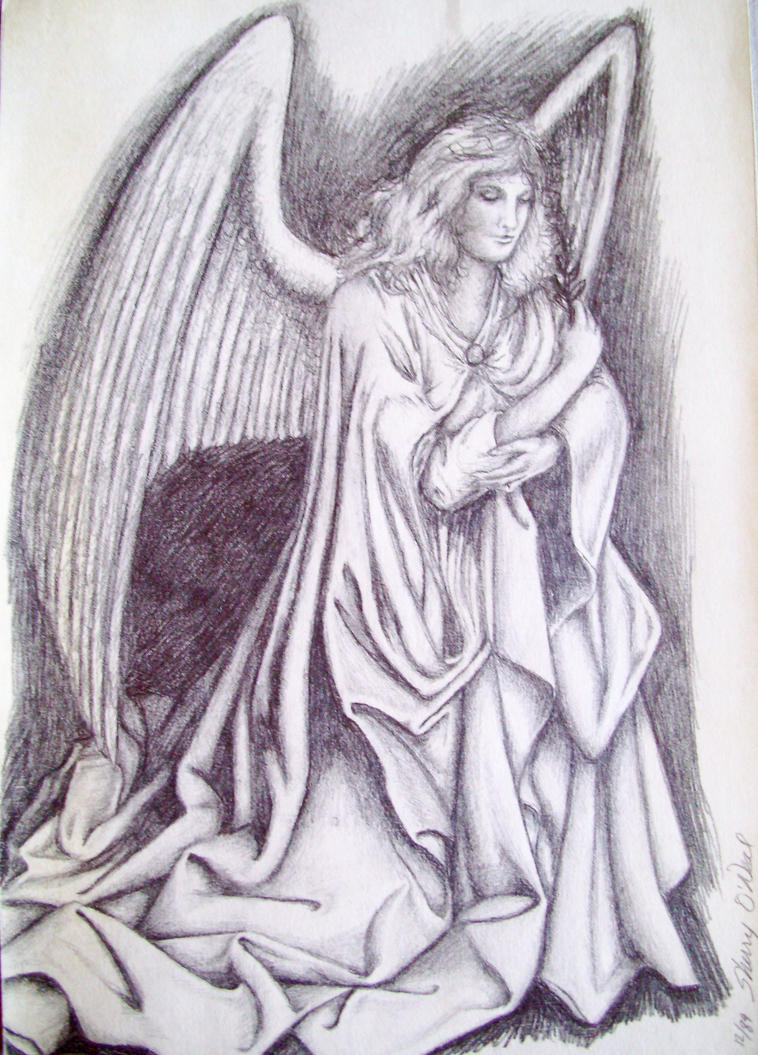 Angel Drawing by AiKisugi on DeviantArt Angel Drawings In Pencil