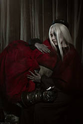 Uncle Gael and The Painter (Dark Souls cosplay) 4 by niamash