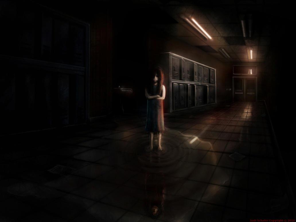 School Hallway Girl by SharpieSchafsta