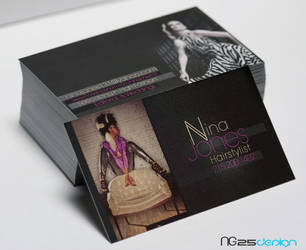 Nina Jones Hairstylist B.Card by NG25Lab