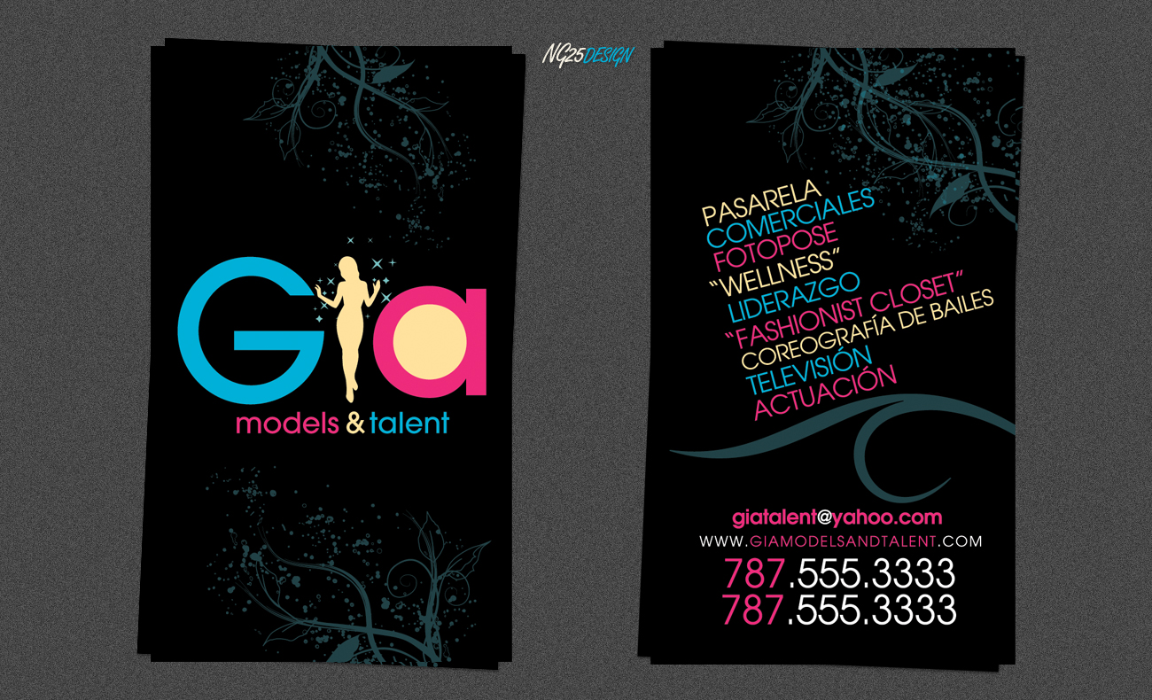 GIA Models and Talent BCards by NG25Lab