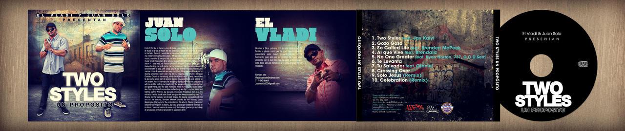CD Design: Vladi y Juan Solo - Two Style Un Propos by NG25Lab