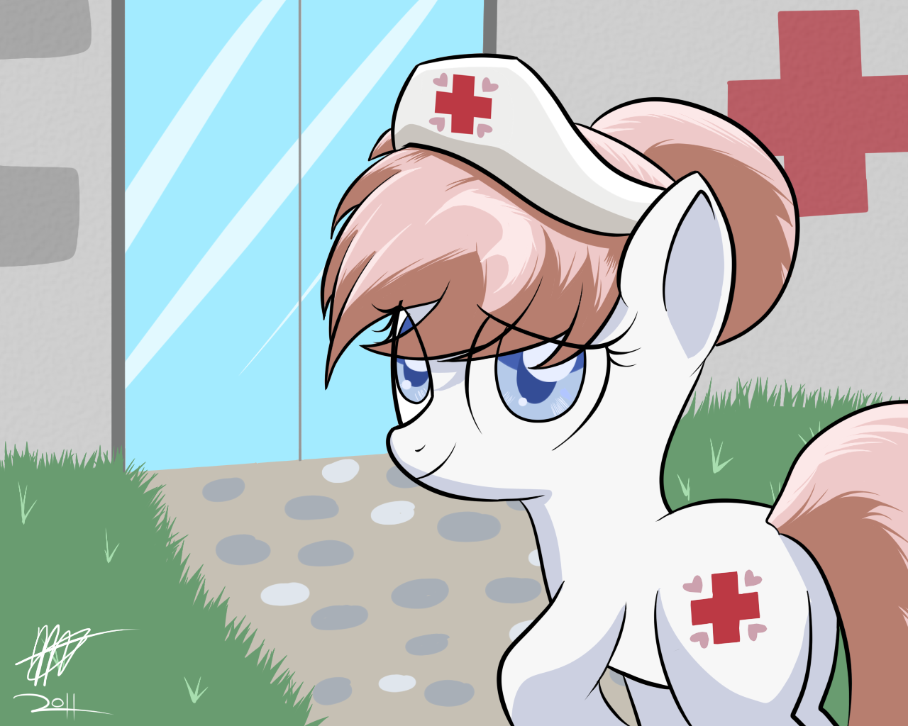 MLP FiM - Nurse Redheart by Mister-Markers