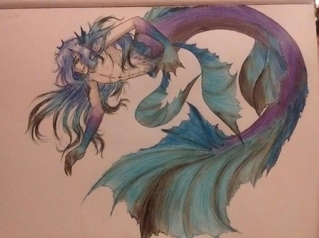 Kunoshi: Merman Form by WolfOfDemonSnow