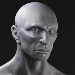 head, first zbrush sculpt