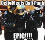 Celty meets Daft Punk