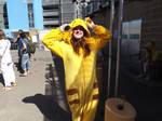Pikachu Onesie Cosplayer