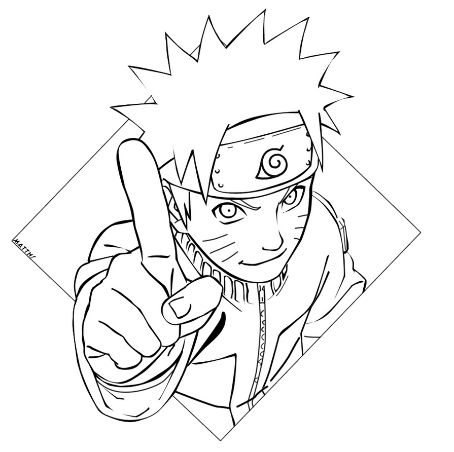 Lineart Naruto : Naruto lineart by matth on deviantart
