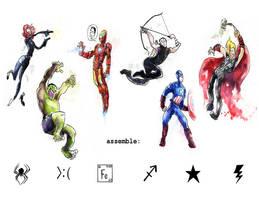 Avengers splotch! by fleebites