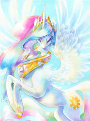 Princess Celestia by fleebites