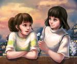 Spirited Away-Chihiro and Haku