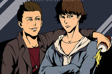 Supernatural_Dean+Sam by pastellZHQ