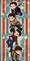 Supernatural_Dean+Sam+Cass+Crowley