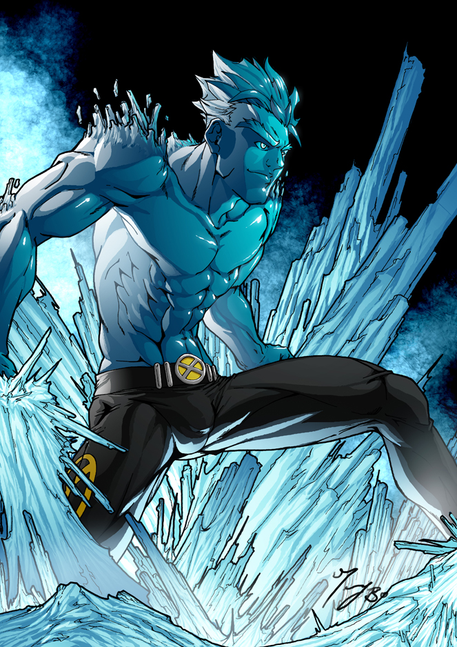 Iceman colored by angel-t by Sakuseii on DeviantArt