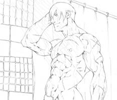 Carl Nadez shower commish by Sakuseii
