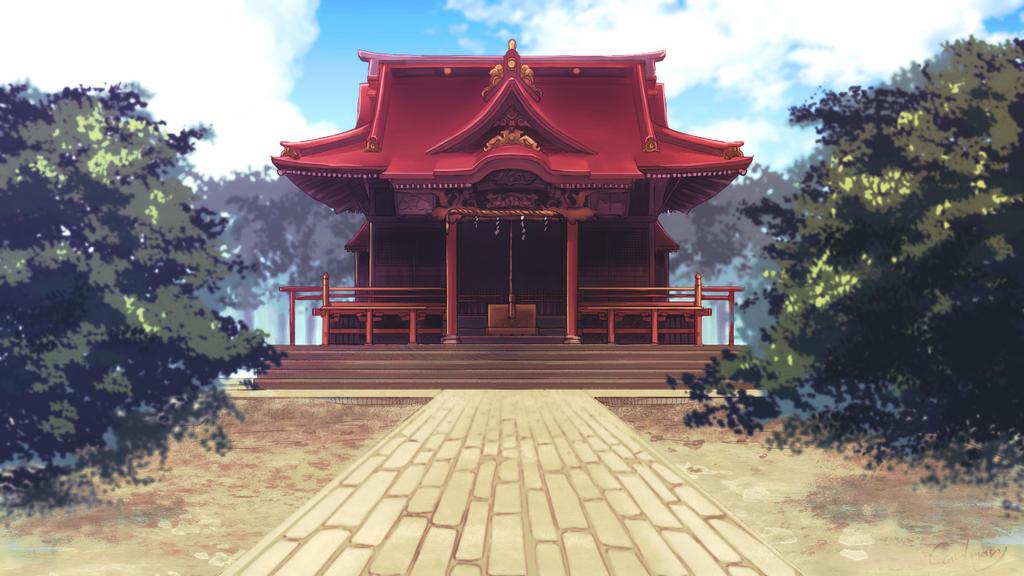 Japanese shrine by carlmary