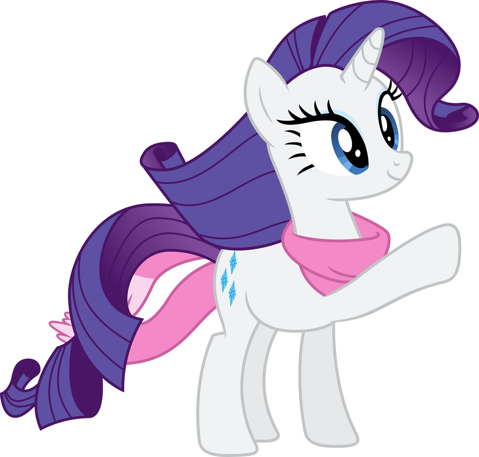 Rarity Cutie Mark Look, a poni! by The-A...