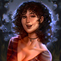 Commission artwork, Jane Romero with curls ~ by 8Hotaru8