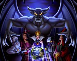 Disney villains, commission art ~ by 8Hotaru8