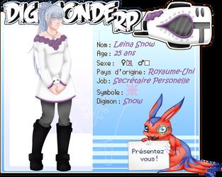[Digimonde RP] - Fiche Personnage - Leina Snow by TitePriscii