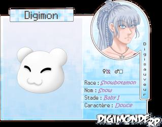 [Digimonde RP] - Fiche Digimon - Snow by TitePriscii