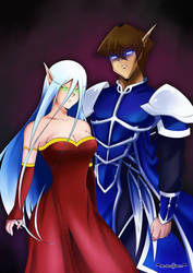 World of Warcraft elven couple Kisara and Seto by GeorgeFah