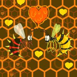 Bee my valentine, Honey