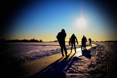 Ice skating by JoostvanD