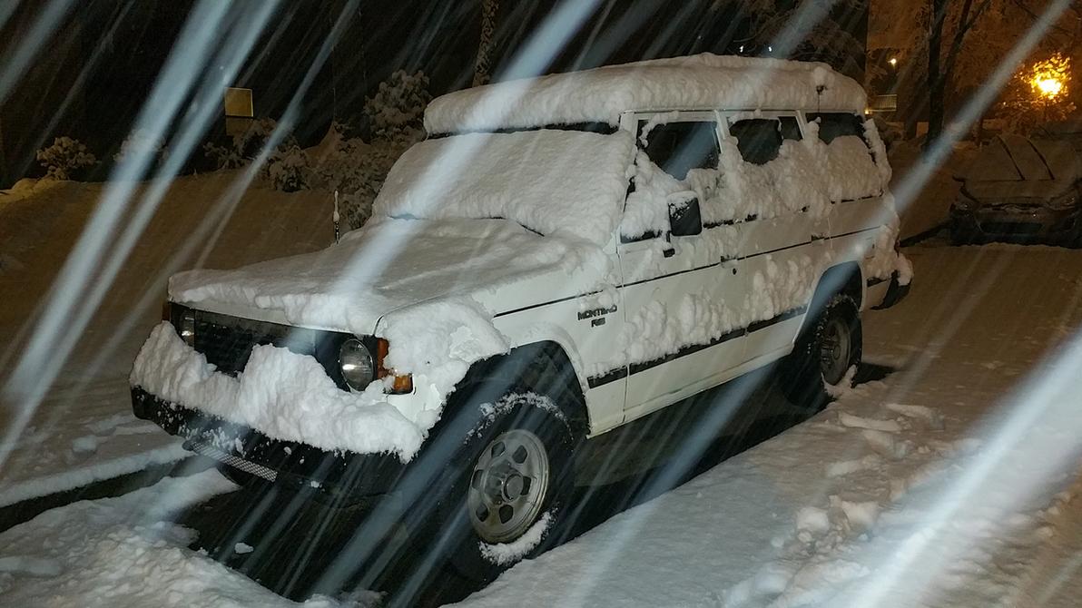 Snow on a Montero by AllHailZ